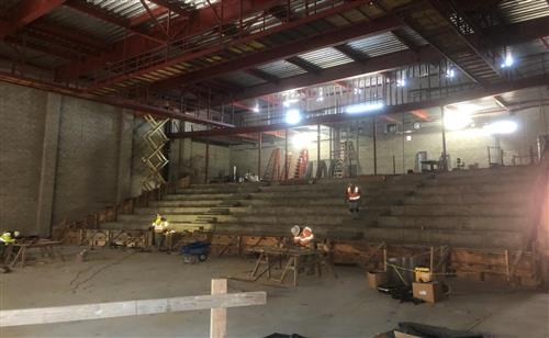 The main seating area of the new performing arts center.