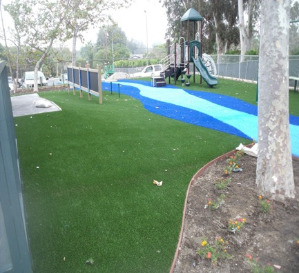 The lower playground area.