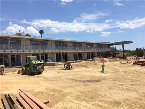 Malibu Middle School Building is nearly complete