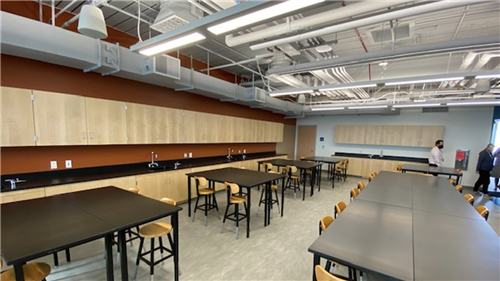 New Science classroom in the new building at Malibu High School