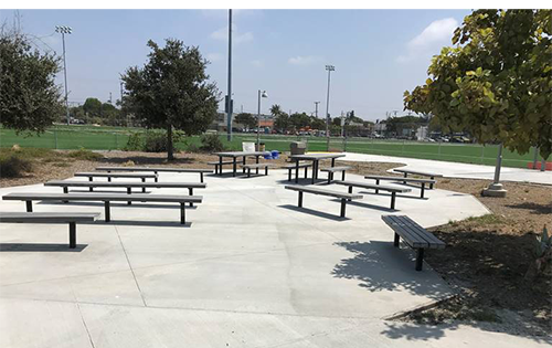 new picnic area at John Adams Middle School