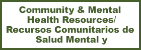 community and mental health resources, recursos comuitarios de salud mental