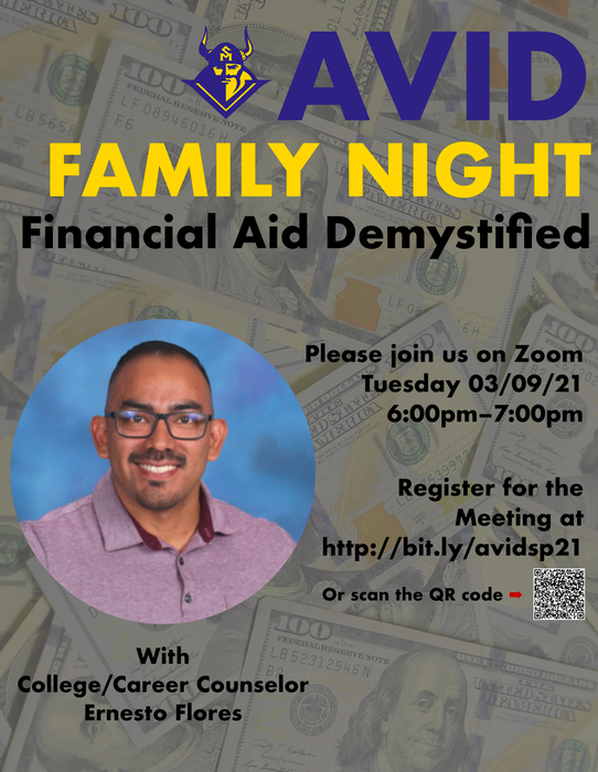 Financial Aid info for AVID Families