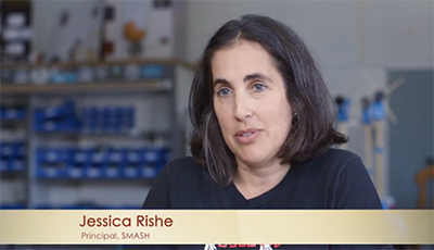 SMASH Principal Jessica Rishe in Time Matters Video